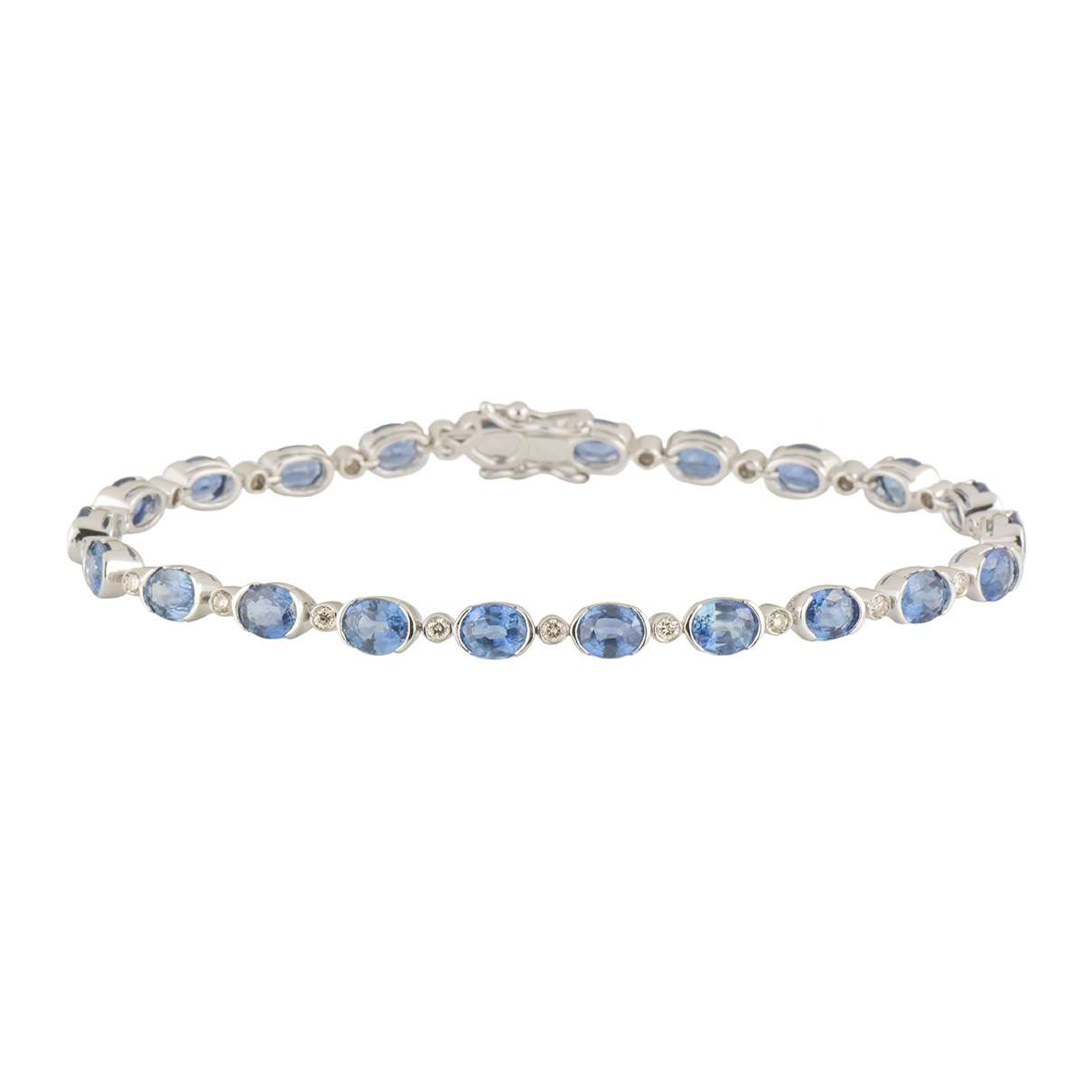 Topaz and Diamond Line Bracelet